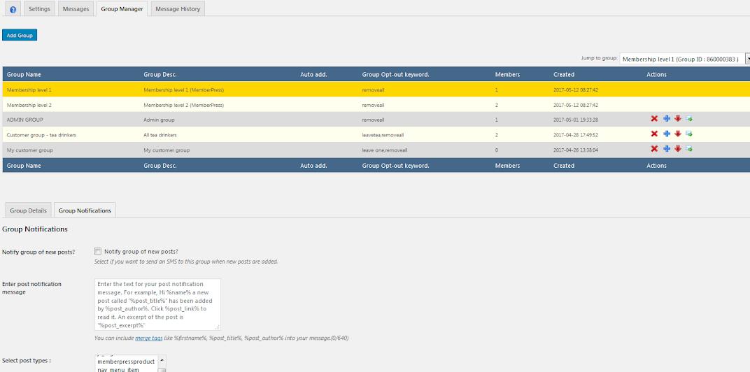 MemberPress settings tab